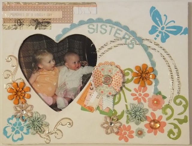 DIY handmade tutorial on making an altered photo frame