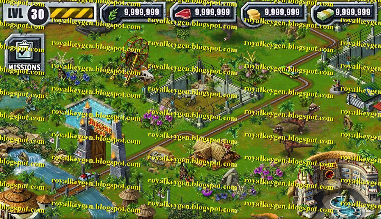 Royal cheats jurassic park builder hack tool free download money coins meat crops - Jurassic park builder decorations ...