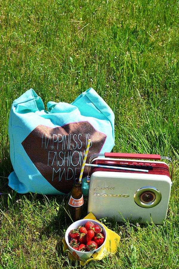 Was ein gutes Picknick ausmacht ... Leckereien, kalte Drinks und Musik