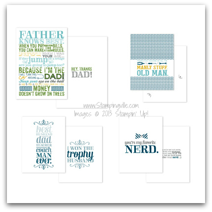 Stampin' Up! Because I'm The Dad Greeting Card Templates