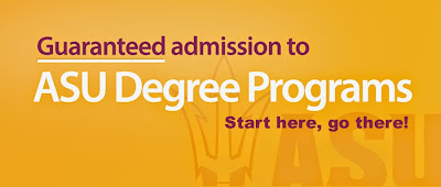Guaranteed admission to ASU Degree Programs. Start here, go there!