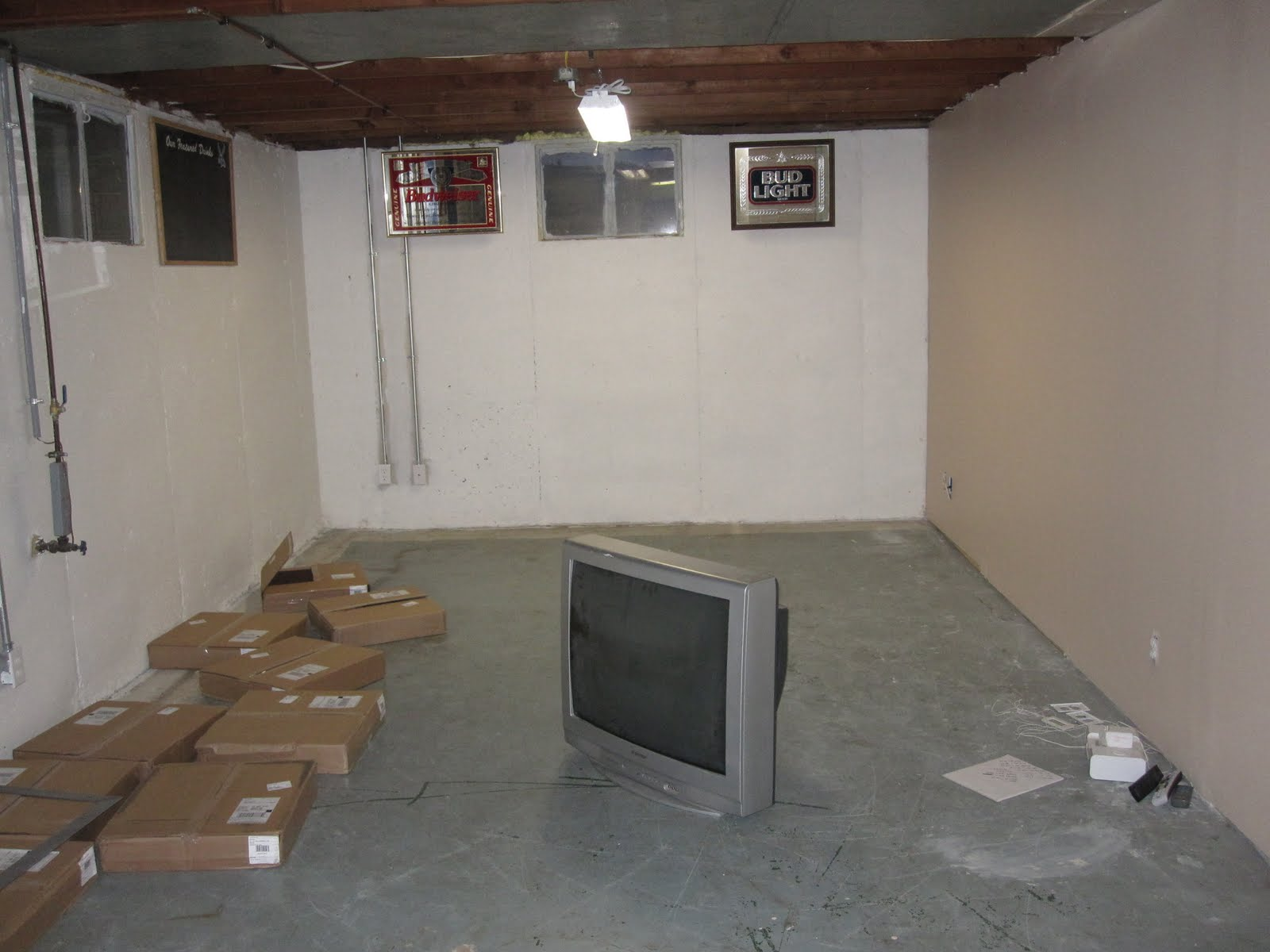 Just another day in paradise Man cave new basement carpet