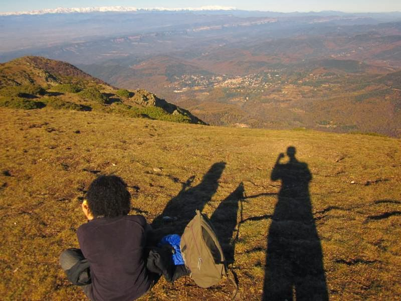 The Pyrenees from Matagalls in Montseny