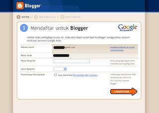 Mendaftar Blog di Blogspot