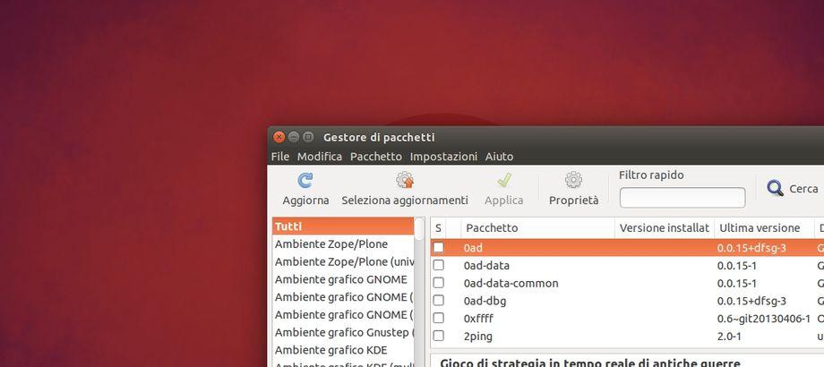 Synaptic in Ubuntu