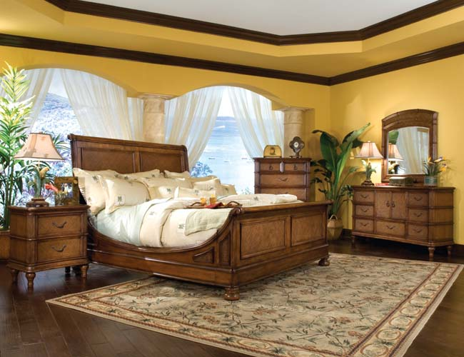 Hawaiian bedroom design ideas for Tropical themed house