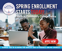 Wallace Community College Selma Spring Enrollement. Apply Today!