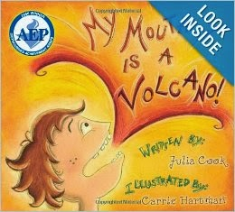 http://www.amazon.com/My-Mouth-Volcano-Julia-Cook/dp/1931636850/ref=sr_1_1?s=books&ie=UTF8&qid=1383576631&sr=1-1