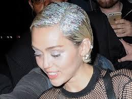 Foto Rambut Glitter Miley Cyrus Trend Rambut 2016