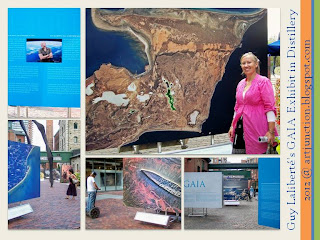 Guy Laliberté's GAIA Exhibit in Distillery, photo collage by Olga Goubar