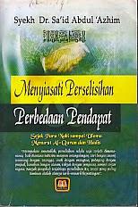 toko buku rahma: buku MENYIASATI PERSELISIHAN PERBEDAAN PENDAPAT, pengarang syekh, penerbit pustaka setia