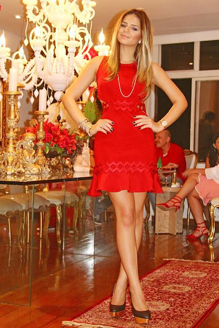 look vestido vermelho reveillon