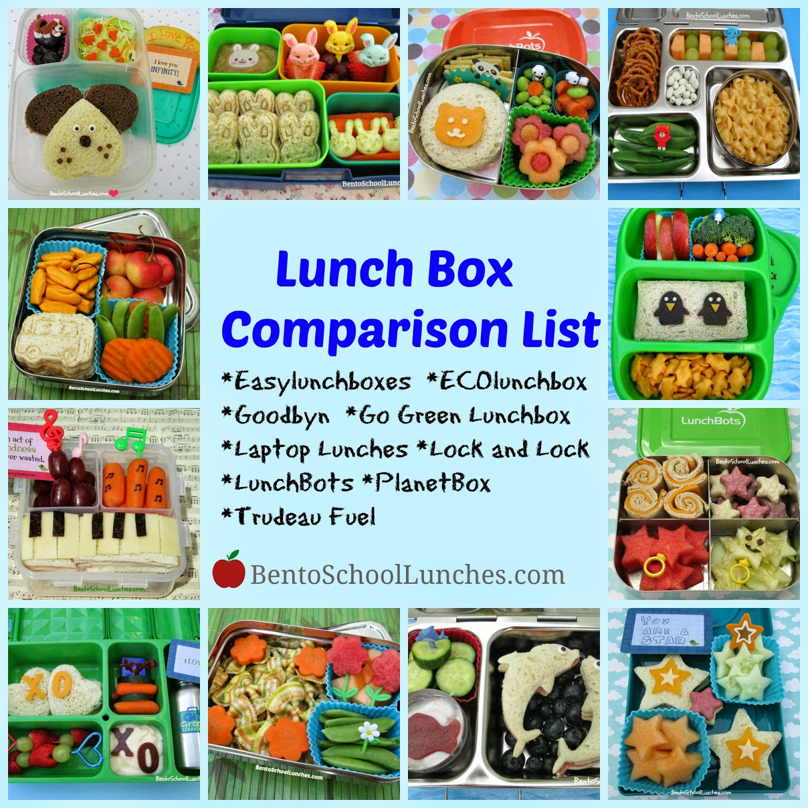 bento school lunches lunch box comparison list. Black Bedroom Furniture Sets. Home Design Ideas