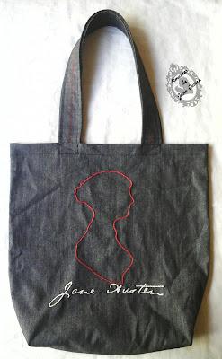 Ecobag Bordada Silhueta Jane Austen Entregue