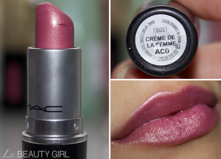My MAC Lipstick collection (Creme de la Femme)