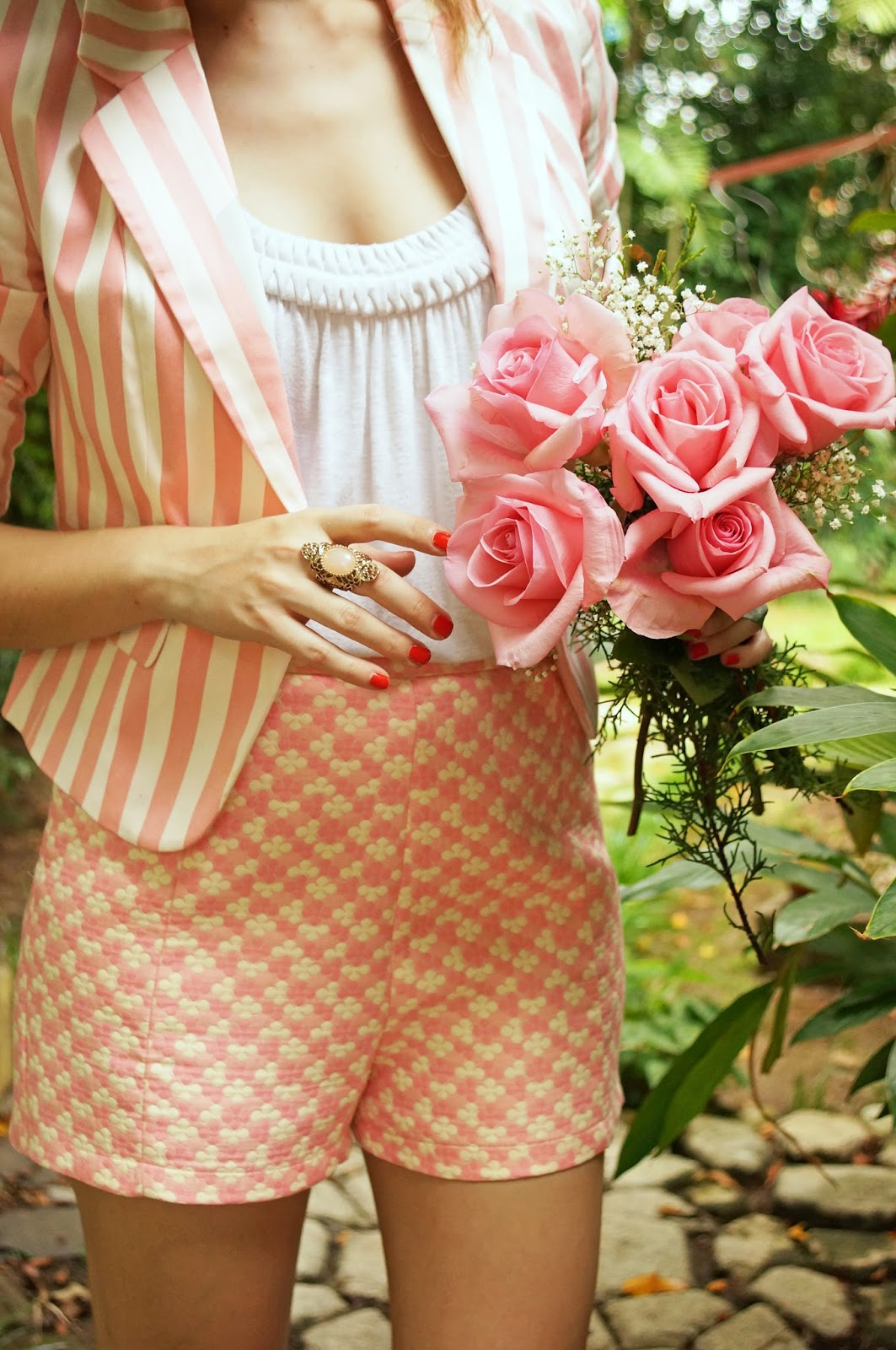 Pretty in Pink pattern mixing!