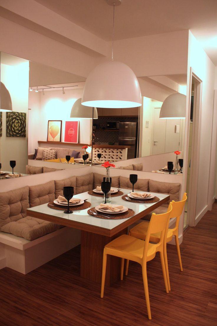 Banco Dois Lugares Sala De Jantar ~ Casa  Decoração  Reciclados Canto Alemão Moderno!