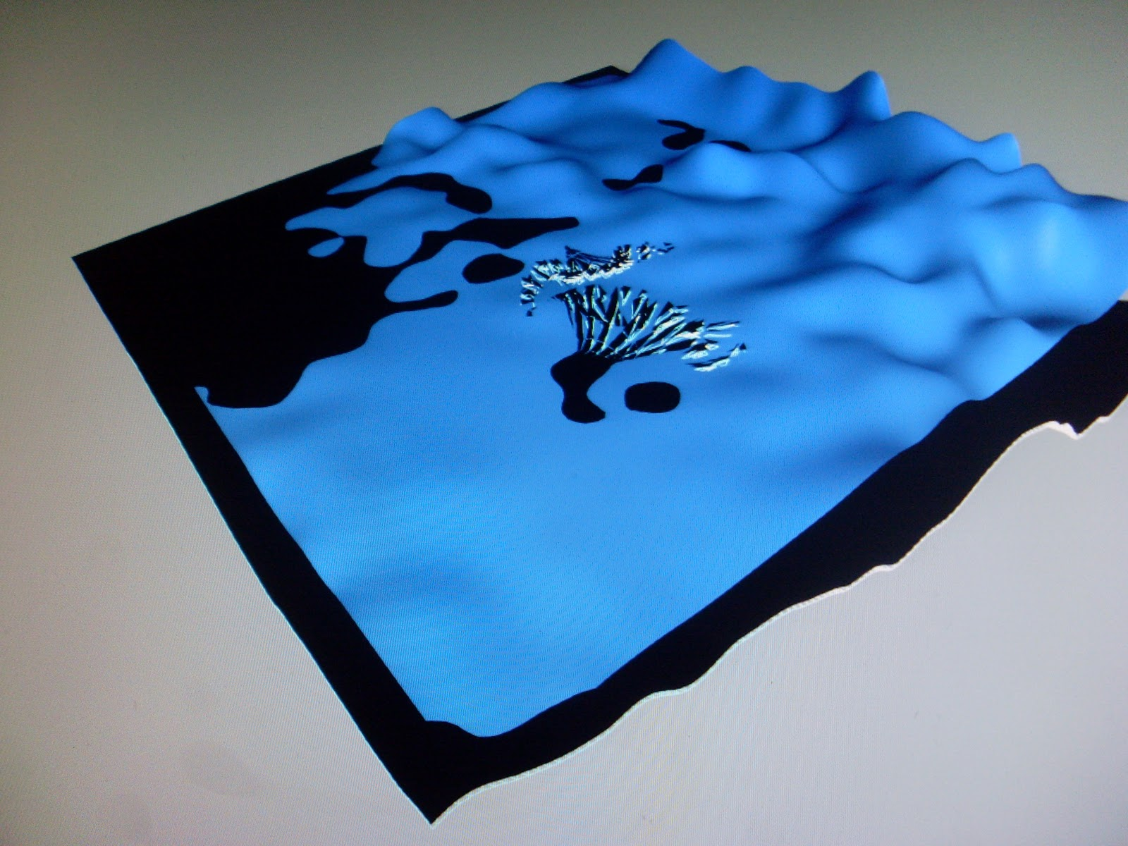 A render of the watery floor