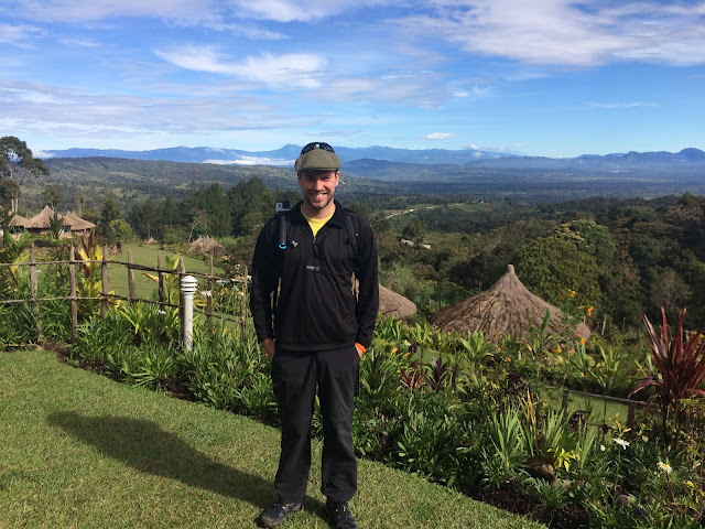 Simon Heyes at Ambua Lodge, Tari, Papua New Guinea