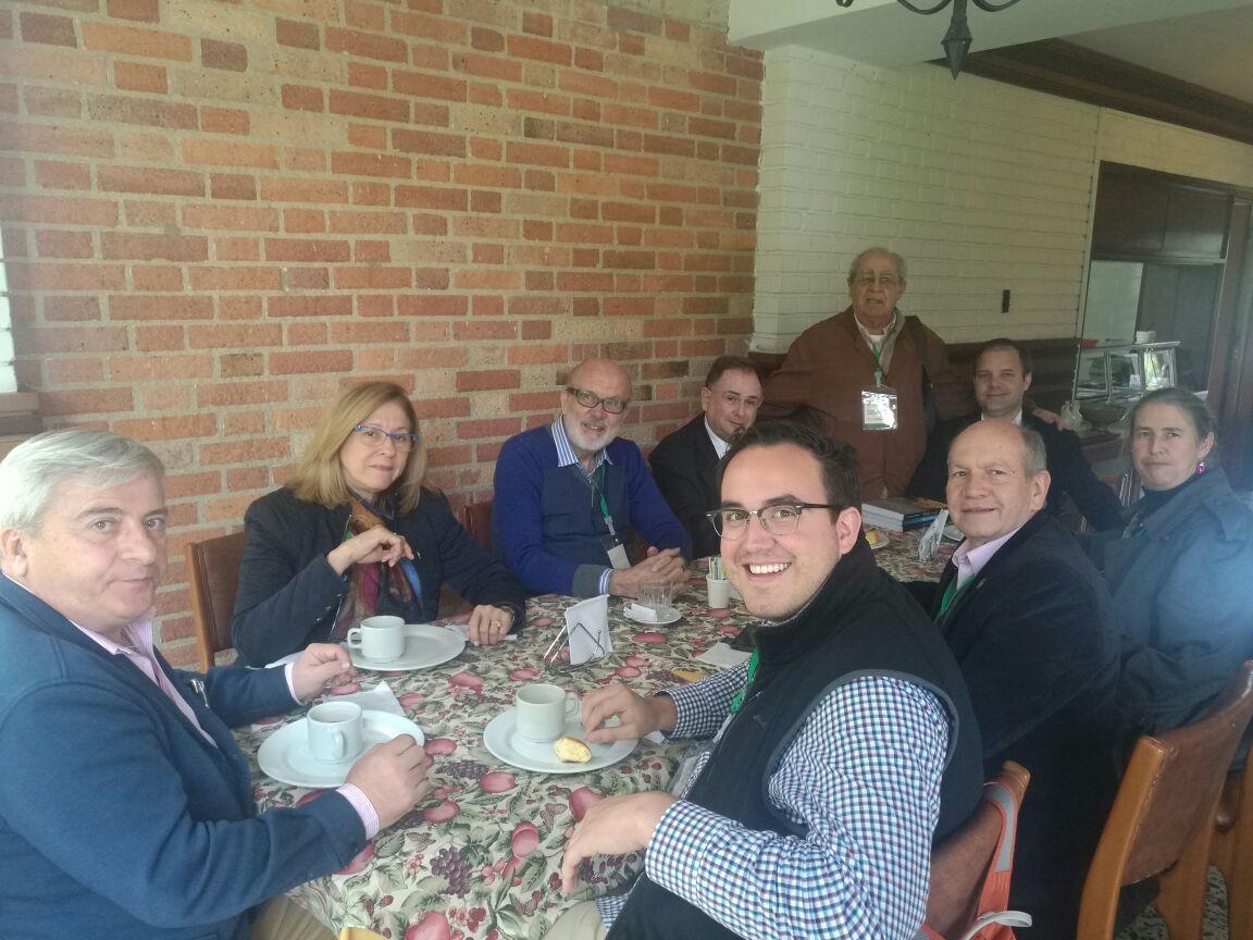 Con Jaime Salazar y Acha Evans Christensen y otros amigos
