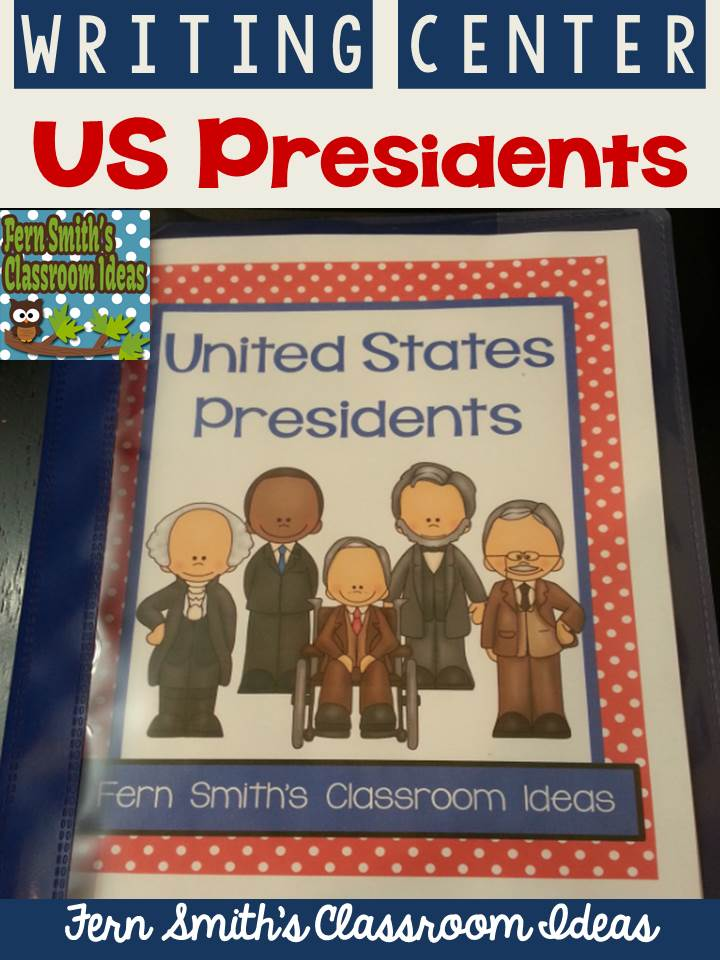 Fern Smith's Classroom Ideas United States Presidents Book - Second and Third Grade Version