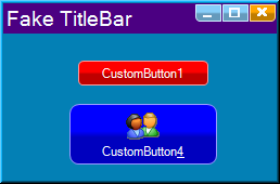 Create Custom Button in Form VB net Csharp