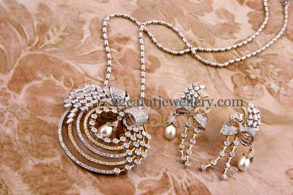 proddetail designer specifications of pendant set view details diamond