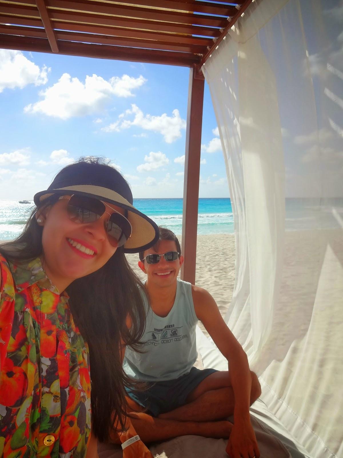 praia privativa do resort - krystal cancun