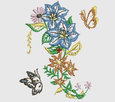 Bordados Gratis  Flores Para Tipos De Telas