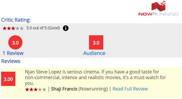 Read Njan Steve Lopez Full Movie Review on Now Running