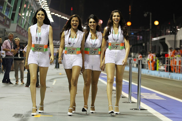 F1 2012 Indian Gp : Sahara Force India F1 Team Speed Divas , F1 Grid girls