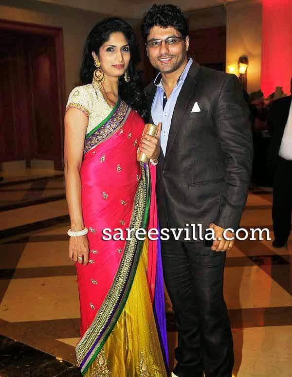 Riyaz Gangji with wife Reshma