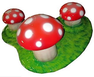 soft sculpted foam play playground equipment custom themed children toddler airport terminal  shopping center food court museum church ministries International Play Company Iplayco mushroom