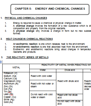 chapter 5 energy and chemical changes topical test science spm form 4. Black Bedroom Furniture Sets. Home Design Ideas
