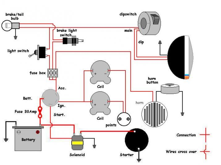 Honda Simple Wiring Diagram on Honda Motorcycle Wiring Schematics