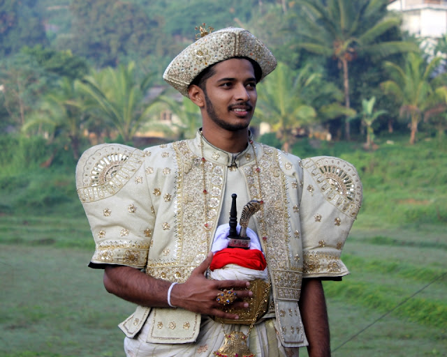 Groom in traditional costume, Sri Lanka