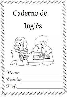 Capa de caderno inglês
