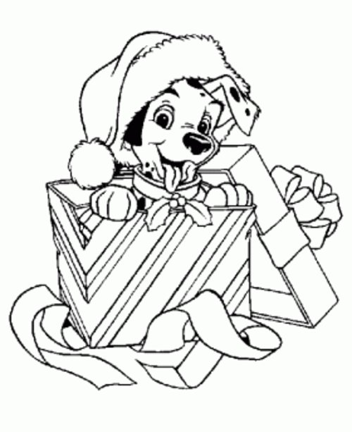 christmas puppy coloring pages - disney christmas coloring page disney coloring pages