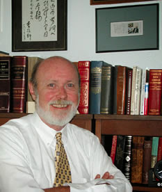 Dr. Charles Friel during his time as Dean of the College of Criminal Justice.