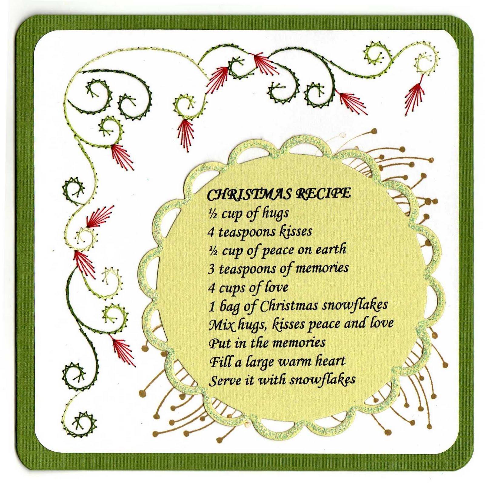 creapleeg: kerstkaart met gedicht