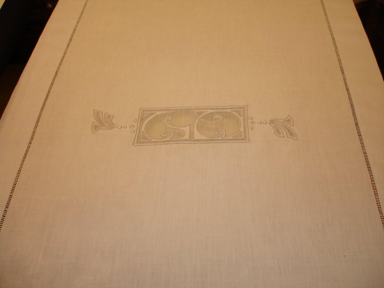 Dosel lencer a de hogar manteles de lino natural bordado - Manteles de lino ...