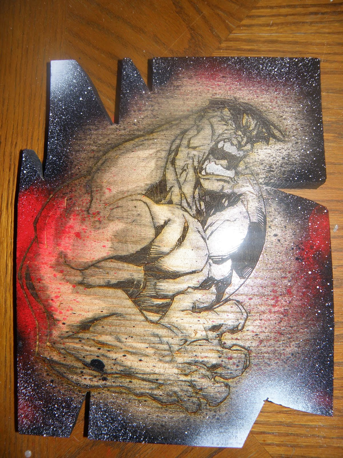 Hulk wall piece (12''by8)