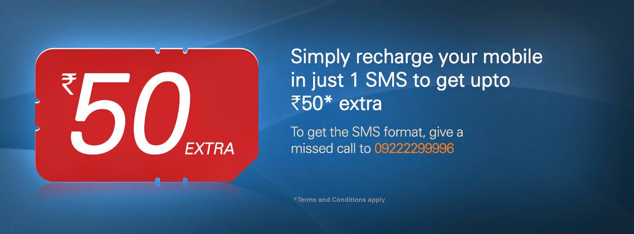 Free 50 rs recharge offer for ICICI Bank users