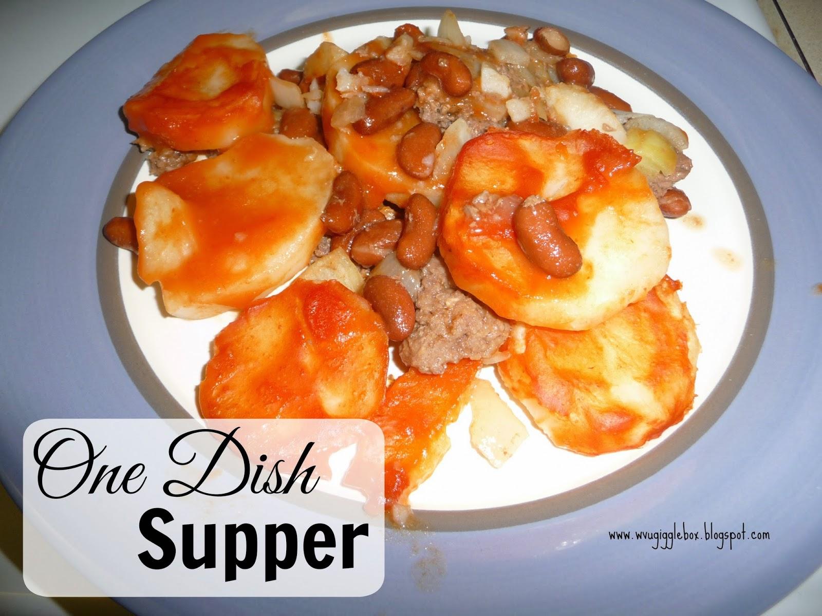 recipe, hamburger meat, potatoes, kidney beans, onions, dinner on a budget,