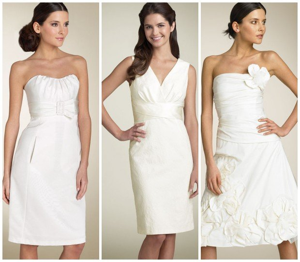 These short wedding dress are suitable for beach wedding which is recently