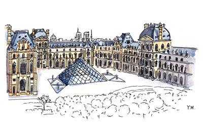 Louvre by Yukié Matsushita