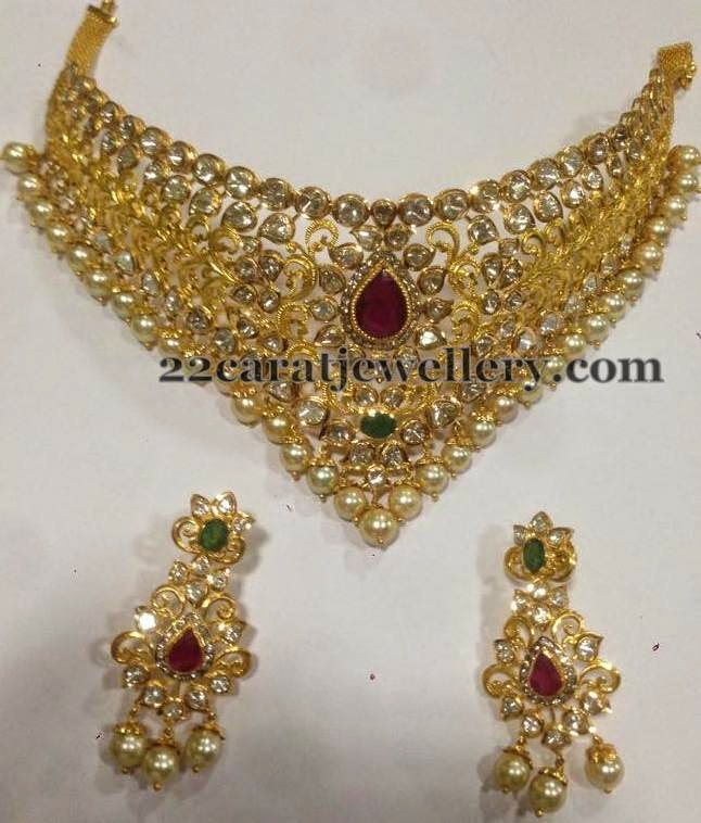 Pachi Setting Necklace 6 Lakhs Jewellery Designs