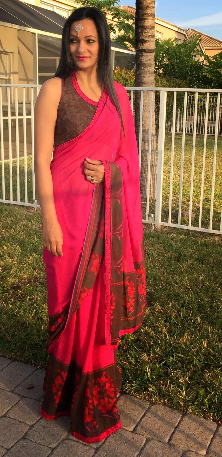 outfit of the day sareezethnic RetroLook sareez www.sandysandhu.co