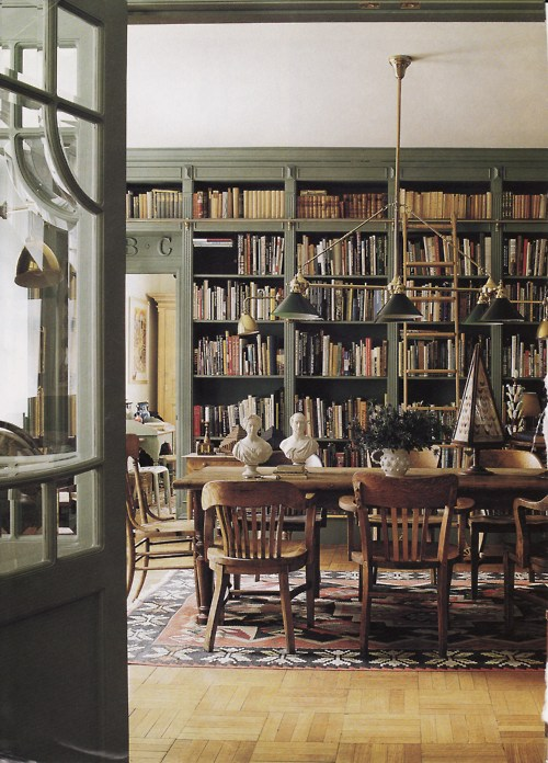 Dining room library in nyc content in a cottage for Dining room library