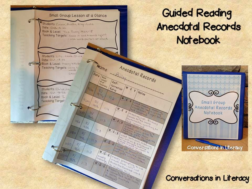 using anecdotal Records notebook to drive instruction